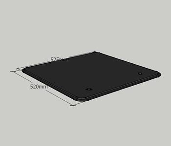 plexiglas prozor 525x520mm