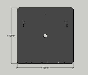 brodsk prozor 695mm x 695 mm